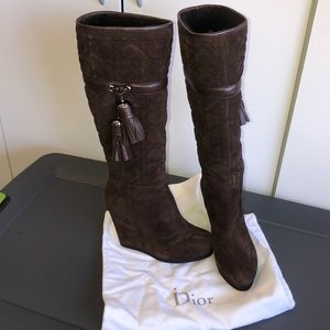 DIOR QUILTED POM BOOTS SZ 36 UNWORN PERFECT #RRR